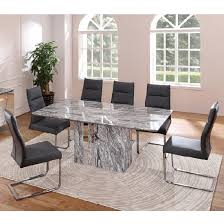 marble dining room sets marble dining table set and room with within tables design 16