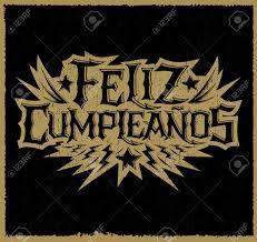 imagenes feliz cumpleaños rockero feliz cumpleanos happy birthday spanish text vector hardcore