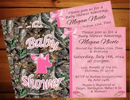 pink camo baby shower invitations marialonghi com