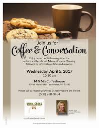 Funeral Service Invitation Waunakee Coffee Invitation Cress Funeral And Cremation Services