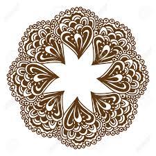 circular floral ornament mehndi henna tattoo mandala yantra