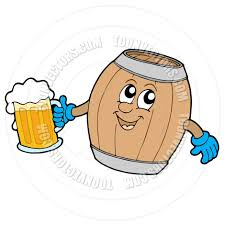 beer cartoon cartoon cute wooden keg holding beer by clairev toon vectors eps