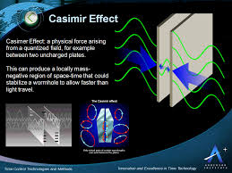 casimir effect time travel