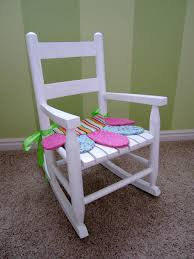 Nursery Wooden Rocking Chair Decorating Childrens Amusing Rocking Chair Cushions Decorating