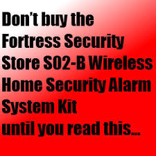 fortress security store s02 b wireless home security alarm system