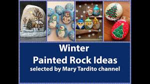 winter painted rocks ideas christmas rock painting ideas