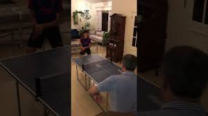 joola midsize table tennis table with net joola midsize ping pong table youtube