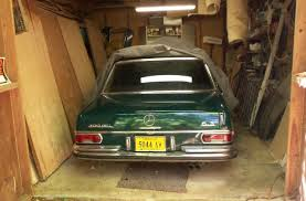 shown then stowed 1969 mercedes 300sel