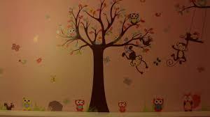 kids room wall sticker monkey and owl zooyoo youtube