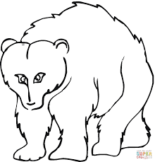 cartoon grizzly bear coloring free printable coloring pages