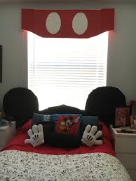 Foam Board Window Valance Disney Themed Room Mickey Mouse Ears Headboard With Mickey Mouse