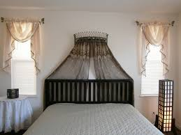 Octorose Bronze Metal Iron Wall Teester Bed Canopy Drapery Crown