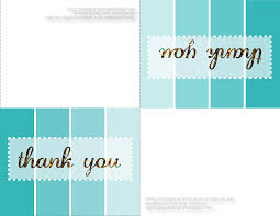 design thank you cards printable free cool template