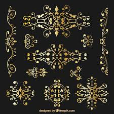 golden ornamental decoration vector free