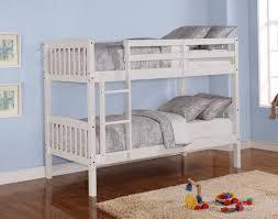 Kids Loft Bed With Desk Fluffy White Bedding On Wooden Bunk Bed - White bunk beds with desk