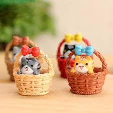 resin miniatures cradle cat micro landscape garden