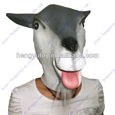Goat Halloween Costume Newly Carnival Costume Latex Goat Mask Head Mask