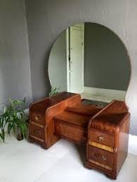 Antique Vanity Sets For Bedrooms Vintage 1940s Vanity W Large Round Mirror With Four Drawers And A