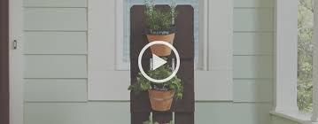 How To Build A Vertical Garden - how to build a vertical herb garden