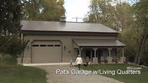 1 Car Garage Plans Garage Inspiring Metal Barns With Living Quarters For Best Garage