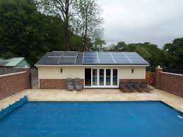 swimming pool solar panel for swimming pool with rectangular pool