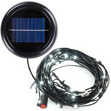 30 led cool white solar light fit 6 rib 8ft 9ft wooden outdoor