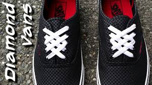 shoelace pattern for vans how to diamond lace vans youtube