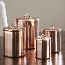 copper kitchen canisters birch koppel 4 kitchen canister set reviews birch