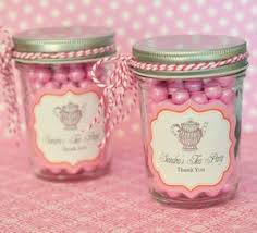 personalized bridal shower favors personalized mini jars tea party bridal shower favors pink