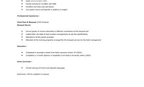Sample Server Resumes by Marvelous Design Ideas Server Resume Samples 7 Server Resume