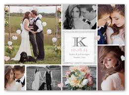 engagement announcement cards diamond collage 5x7 wedding announcement cards shutterfly