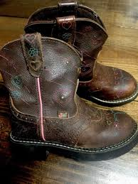 justin light up boots justin gypsy light up cowboy western boots 9205 jr size 12 d brown