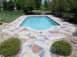 Stone Design by Decorative Concrete Pool Deck Overlay Stone Design South