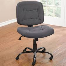 furniture office gray wide armless office chair with on wheels