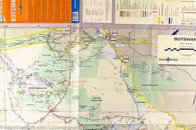 Botswana Map Road Map Of Botswana Tracks4africa U2013 Mapscompany