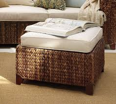 Seagrass Storage Ottoman Seagrass Sectional Ottoman Pottery Barn