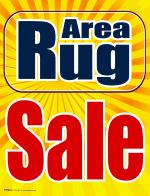 Area Rug On Sale Window Sign Area Rug Sale Signs4retail