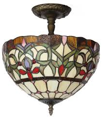 Glass Ceiling Lights Amora Lighting Am1081hl12 Tiffany Style Stained Glass Ceiling