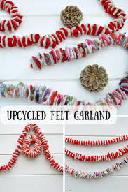 diy upcycled felt christmas garland garlands felting and craft