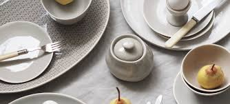 a simple table setting styled with murmur stoneware cate st hill