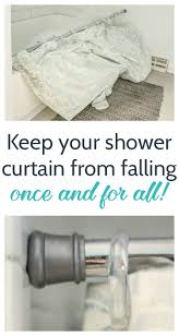 Removable Shower Curtain Rod by How To Keep Your Shower Curtain From Falling Down Lovely Etc