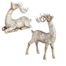 white polystone birch bark reindeer décor target