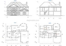 draw house plans for free type of houses dwg models free