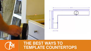 The Best Countertops The Best Way To Template Countertops Youtube