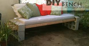 Building A Garden Bench Seat Diy Outdoor Bench In Less Than An Hour