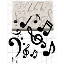 musical notes cake decorating silicone mould by fpc moulds