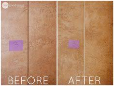 Grout Cleaning Tips How To Restore Grout The Easy Way Cleaning Tips What I Used My