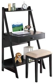 small desk with drawers and shelves small black desk with drawers inc 2 piece black student small