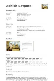 Quality Control Resume Sample by Chemist Resume Samples Visualcv Resume Samples Database