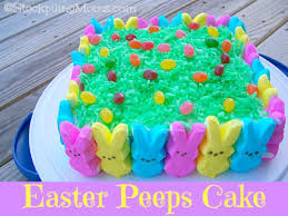 peeps decorations peeps cake2 jpg